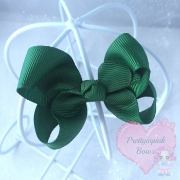 "3"" Boutique Bow ( Forrest Green )"