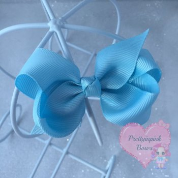 "3"" Boutique Bow ( Light Blue )"
