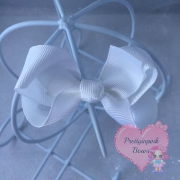 "3"" Boutique Bow ( White )"