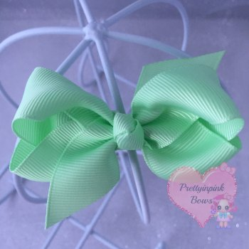 "3"" Boutique Bow ( Pastel Green )"