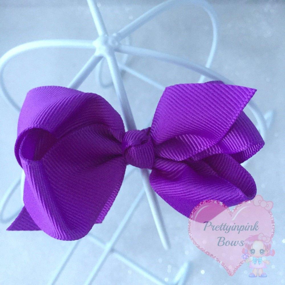 """3"""" Boutique Bow ( Purple )"""