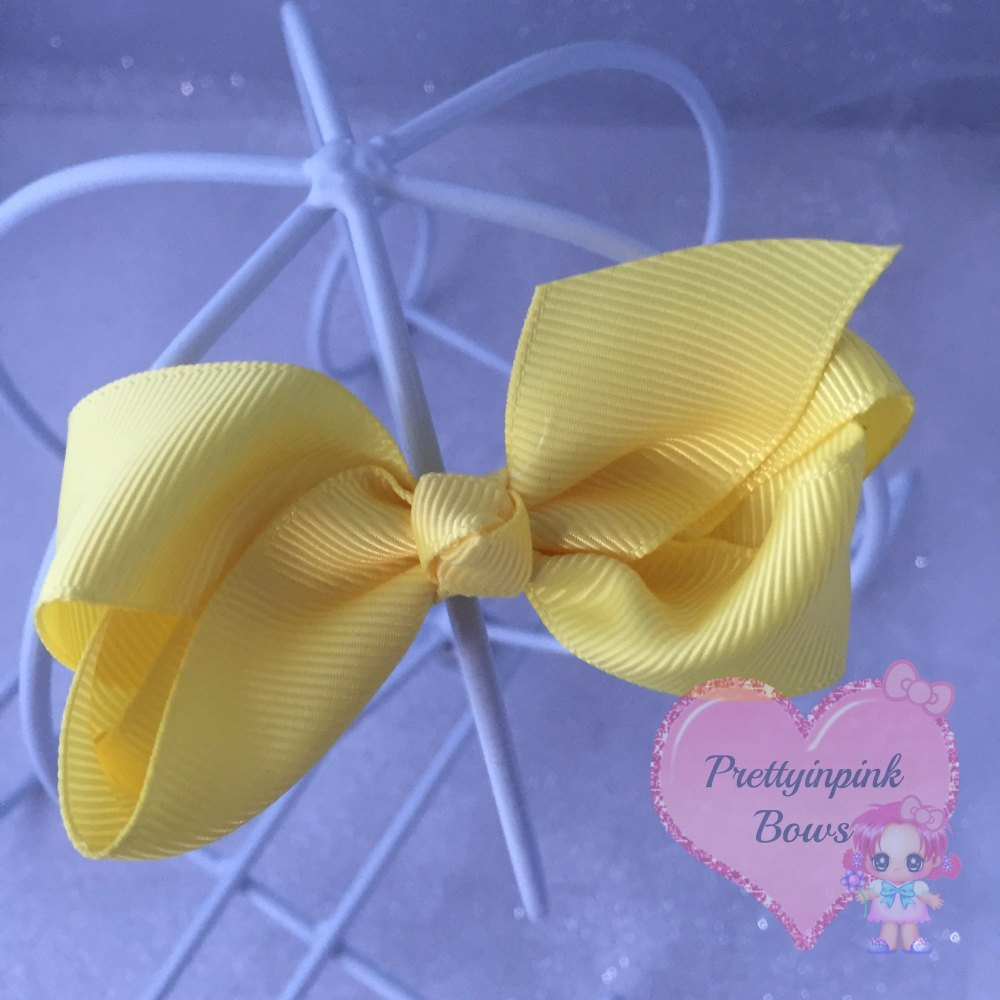 """3"""" Boutique Bow ( Lemon )"""