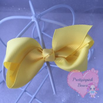 "3"" Boutique Bow ( Lemon )"
