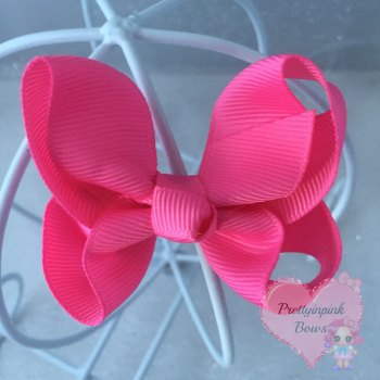 "3"" Boutique Bow ( Hot Pink )"
