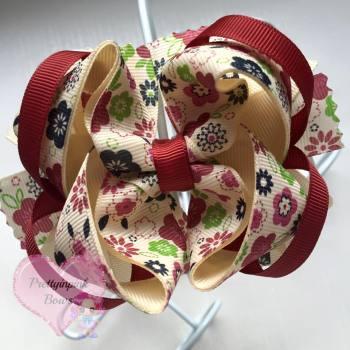 Princess Bow - Vintage Flower ~ On Croc Clip