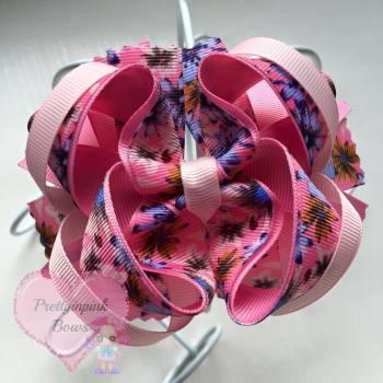Princess Bow - Flowers ~ On Croc Clip