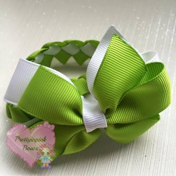 Small Donut Bun Wrap Apple green and white