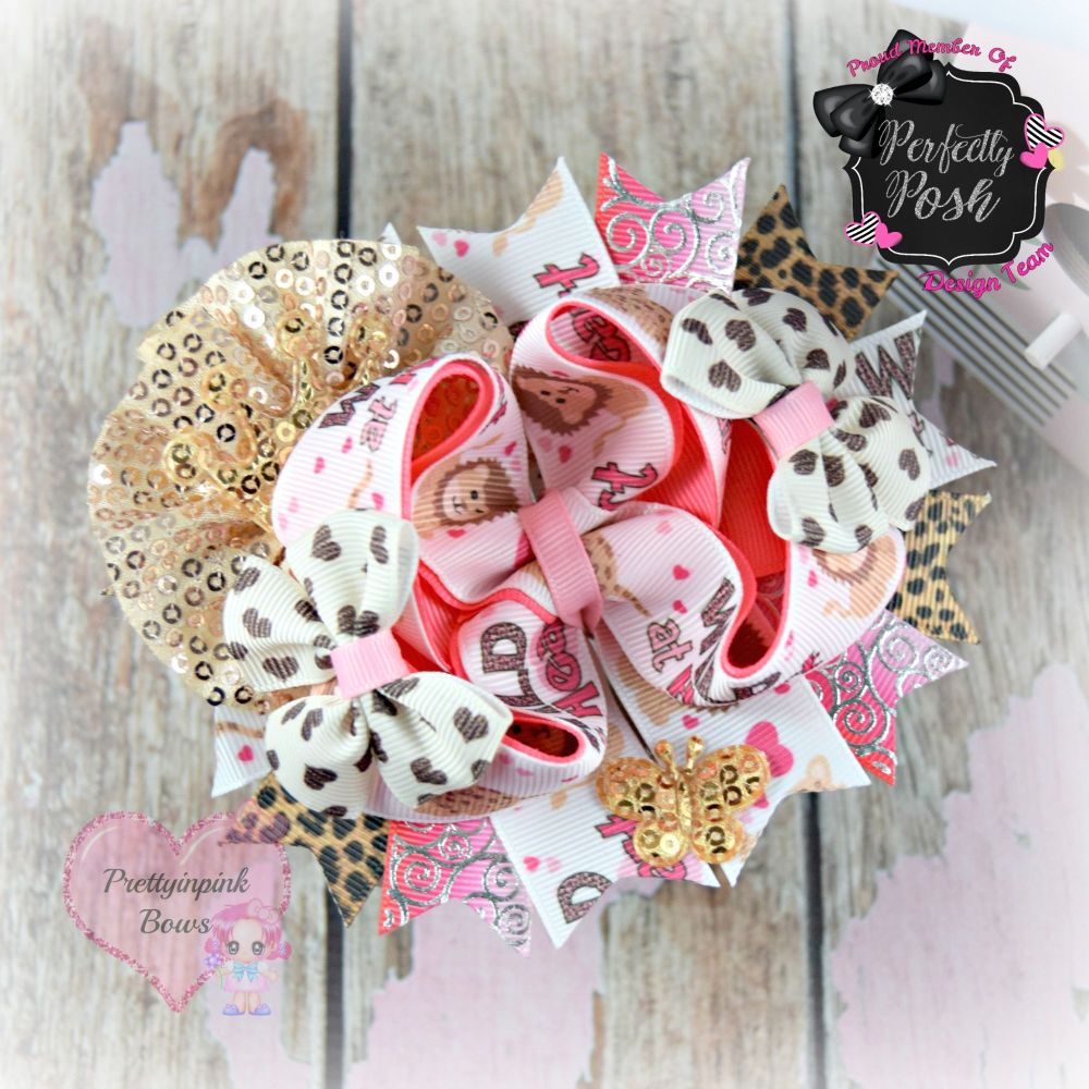 Pageant Bow - Wild At Heart