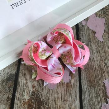 Fairy Bow - Princess Carriages ~ On Croc Clip