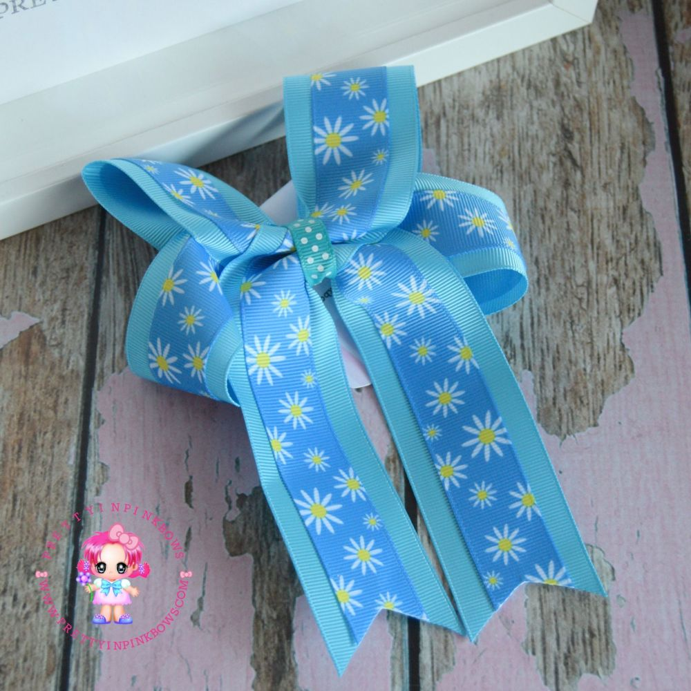 Double Loop Tails - Blue Dasies ~ On Bobble