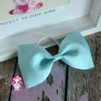 Large Minnie Bow - Mineral Ice ~ On Bobble