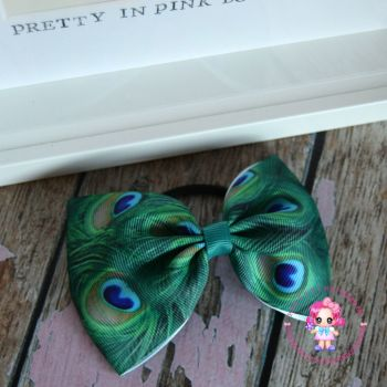 Large Minnie Bow - Peacock ~ On Bobble