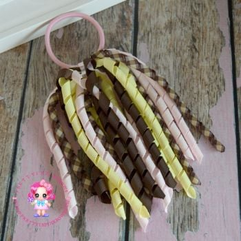 Long Korkers Light Pink Brown Yellow On Bobble