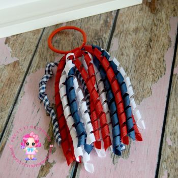 Long Korkers Red White Navy On Bobble