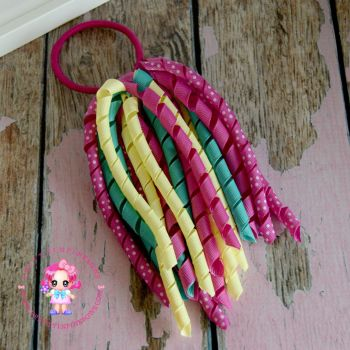 Long Korkers Pink Yellow and Jade Green On Bobble