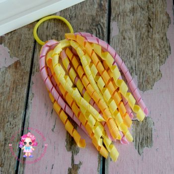 Long Korkers Pink and Yellow On Bobble