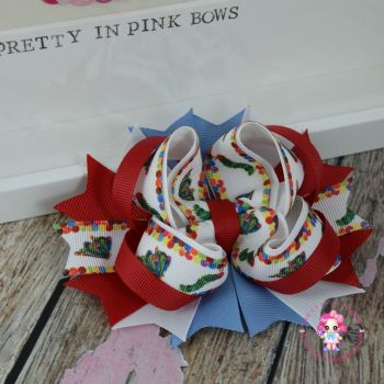 Princess Bow - The Hungry Caterpillar ~ On Croc Clip