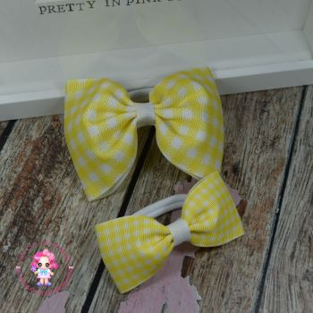 Pony Set - Yellow Gingham ~ On Bobbles
