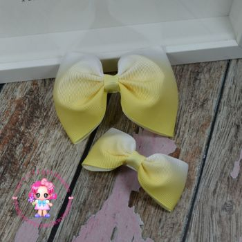 Pony Set - Yellow Ombre ~ On Croc Clips