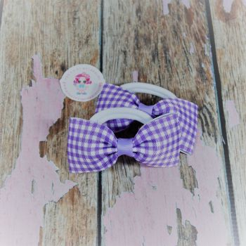Minnie Bows - Lilac Gingham ~ on Bobbles