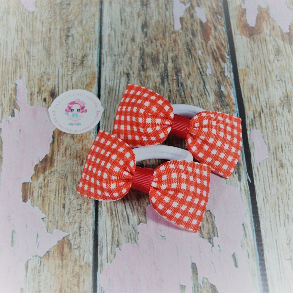 Minnie Bows ( Red Gingham ) on Bobbles