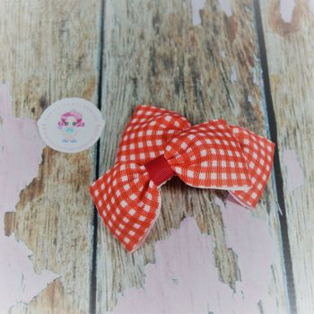 Minnie Bows On Croc Clip ~ Red Gingham