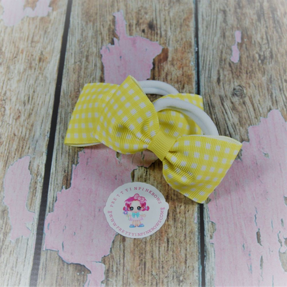 Minnie Bows ( Yellow Gingham ) on Bobbles