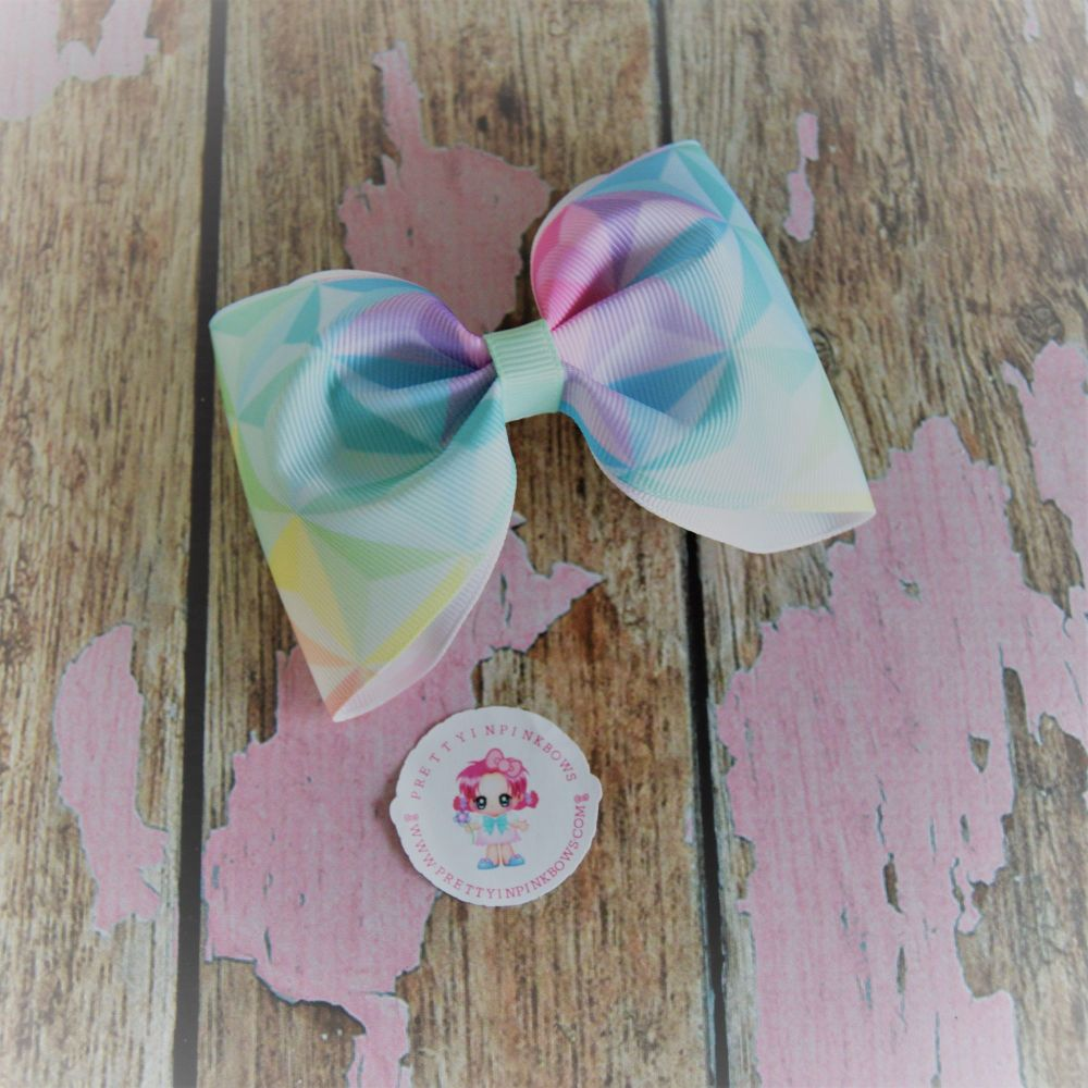 Large Minnie Bow ~ Dimond Ombre on croc