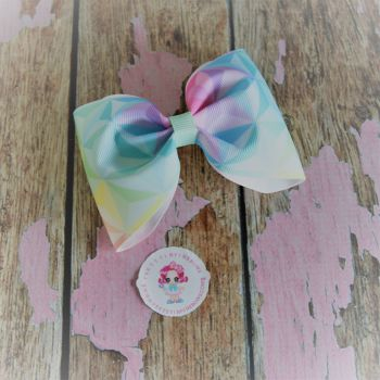 Large Minnie Bow - Diamond Ombre ~ On Croc Clip