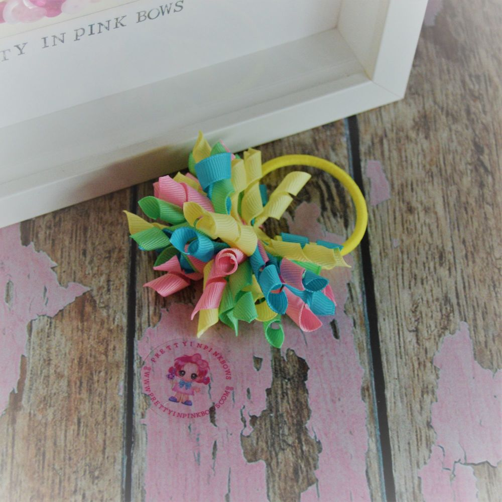 Short Korker ~ Yellow, blue, pink and green