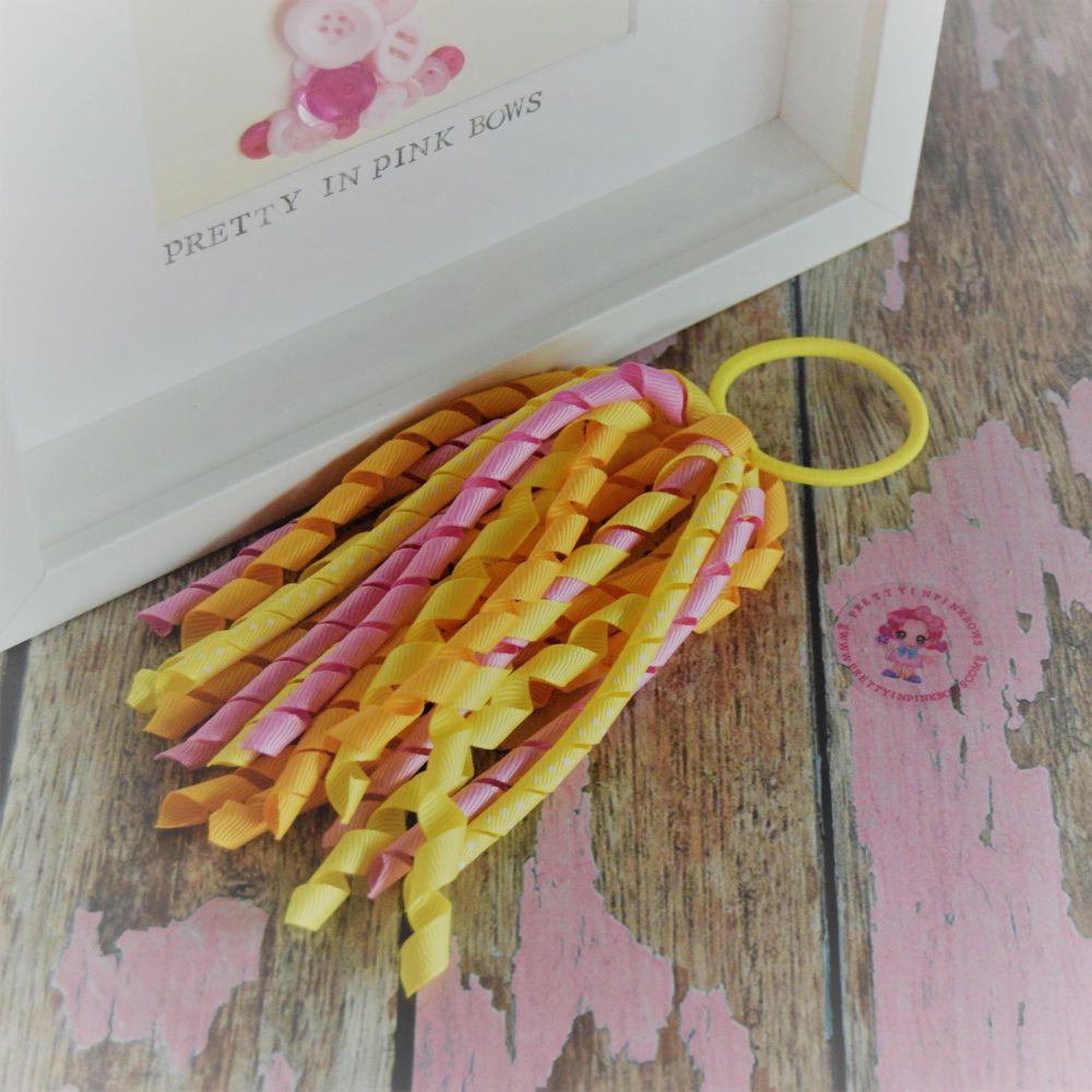 Long Korker ~ Yellow, Pink and Orange