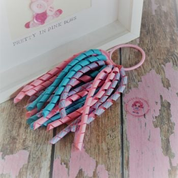 Long Korker ~ Blue and Pink ZigZag