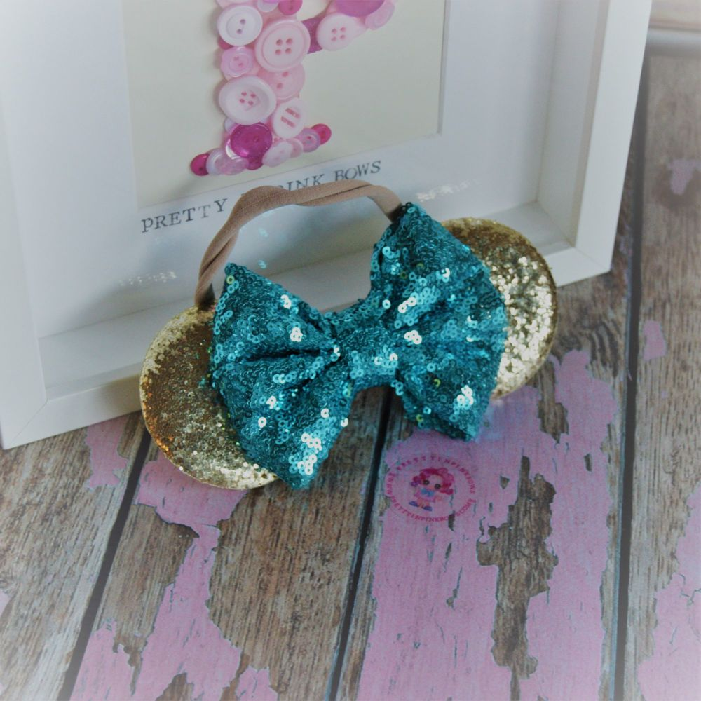 Gold and Blue Minnie ears