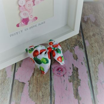 Large Minnie Bow - Cherries ~ On Bobble