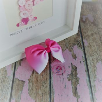 Large Minnie Bow - Pink Ombre ~ On Bobble
