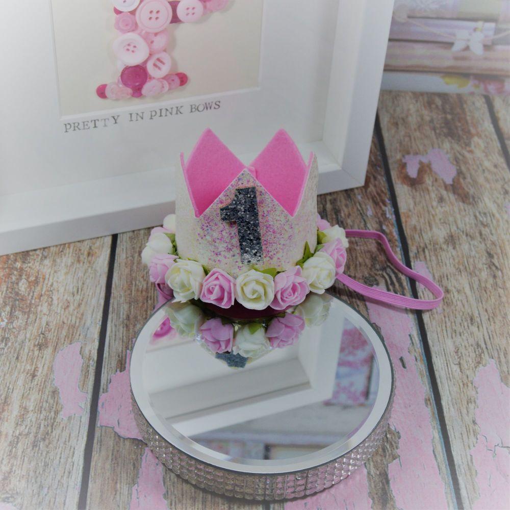 1st birthday crown - Princess sparkle
