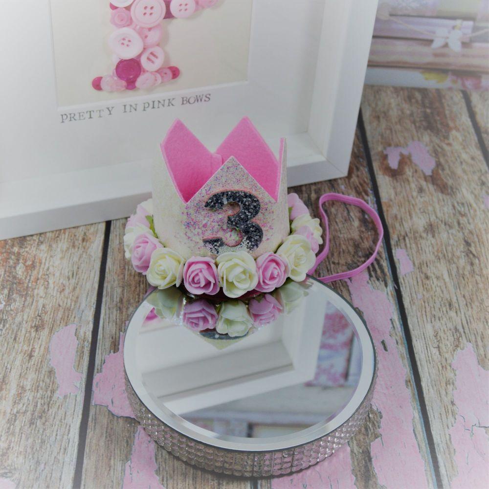 3 RD Birthday Crown - Princess sparkle