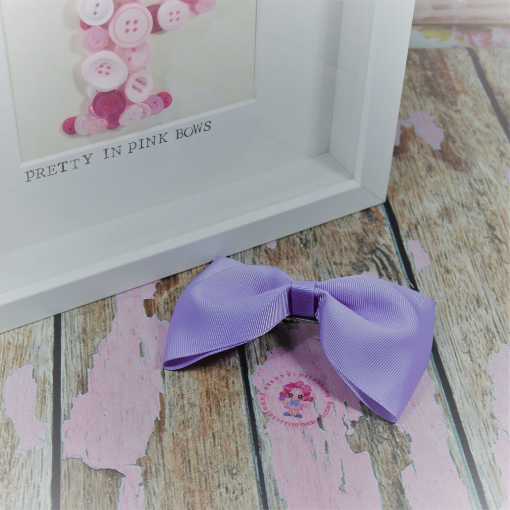 Large Minnie bow ~ Lt Orchid - on croc
