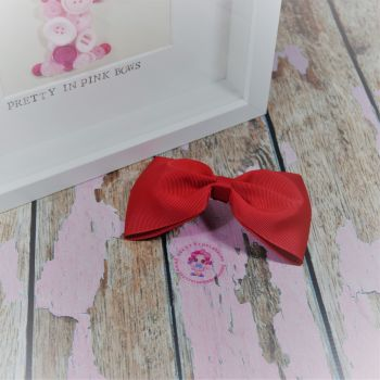 Large Minnie Bow - Red ~ On Croc Clip