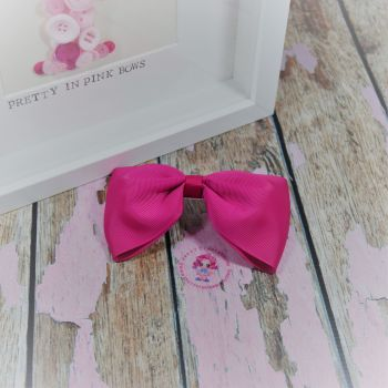 Large Minnie Bow - Azalea ~ On Croc Clip