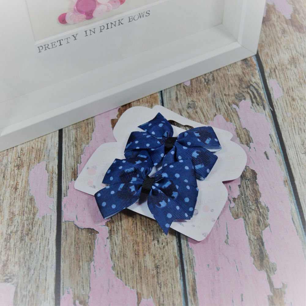 Double loop pinwheels ~ Blue Strewberry On Crocs
