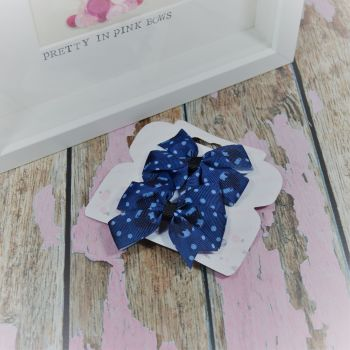 Double Loop Pinwheels - Blue Strawberry ~ On Croc Clips