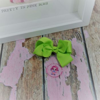 "3"" Boutique bow on croc ~ Lime Green"