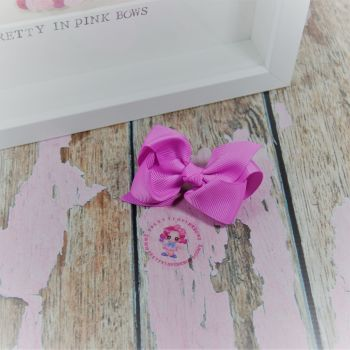 "3"" Boutique bow on croc ~ Rose Bloom"