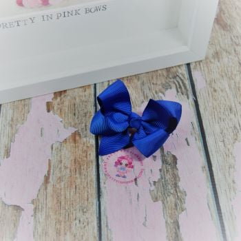 "3"" Boutique bow on croc ~ Electric Blue"