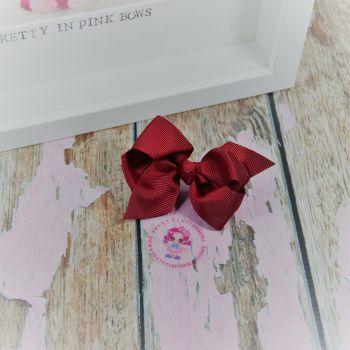 "3"" Boutique bow on croc ~ Scarlet"