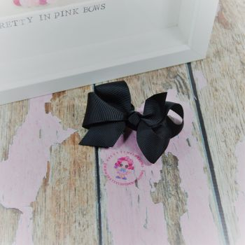 "3"" Boutique bow on croc ~ Black"