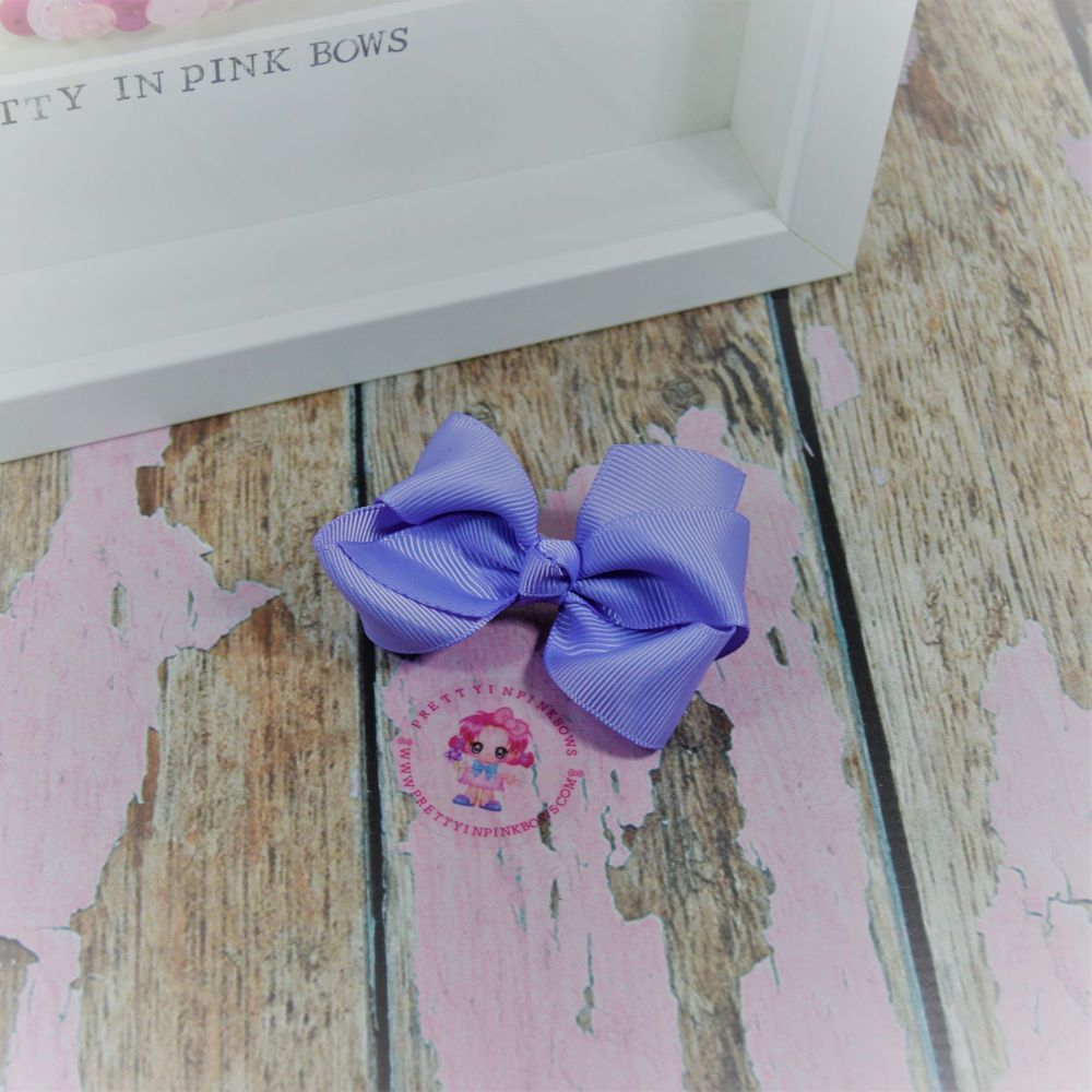 "3"" Boutique bow on croc ~ Lt Orchid"