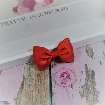 Minnie Bow On Croc Clip ~ Red