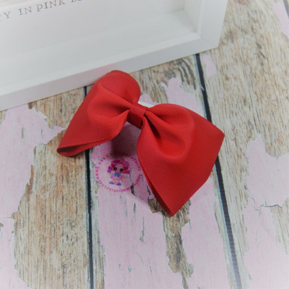 Large Minnie bow ~ Red - on bobble